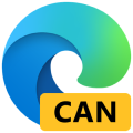 Microsoft Edge canary ロゴ